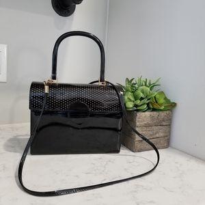 Handbags - VINTAGE BLACK PATENT LEATHER CROSSBODY
